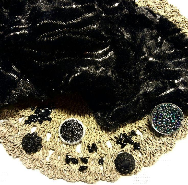 Scaldacollo in Pelliccia Sintetica, Perline e Paillettes x decorare