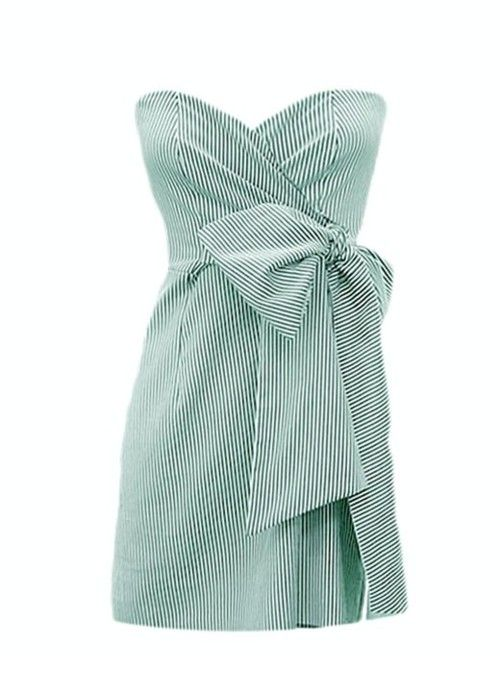 adorable!: Summer Dresses, Carolina Cup, Strapless Dresses, Summer Wedding, Seersucker Dresses, Style, Judith Marching, Bridesmaid Dresses, Bows