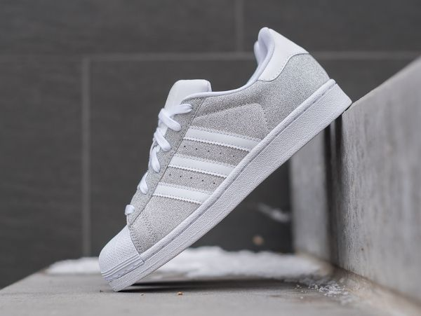 adidas originals superstar baskets pour femme argent silber
