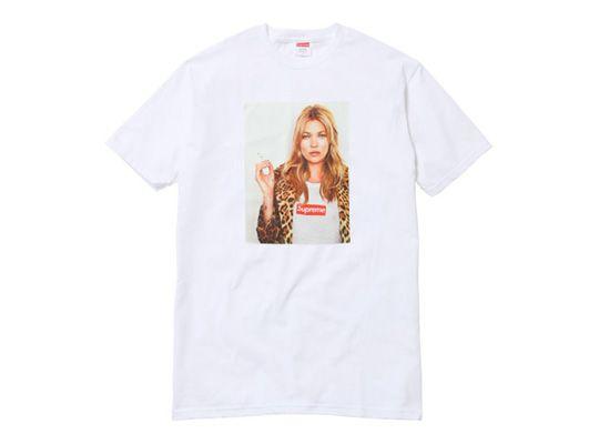 Kate Moss on a Supreme shirt, so cool