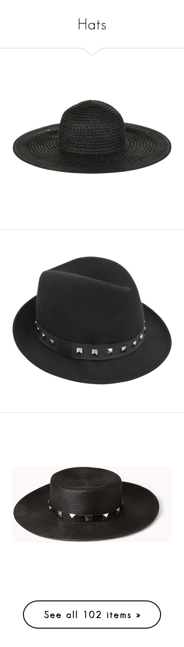 """""""Hats"""" by karol-andrade ❤ liked on Polyvore featuring accessories, hats, floppy hats, beach sun hat, floppy sun hat, flop hat, sun hat, studded hat, gérard darel and navy fedora"""
