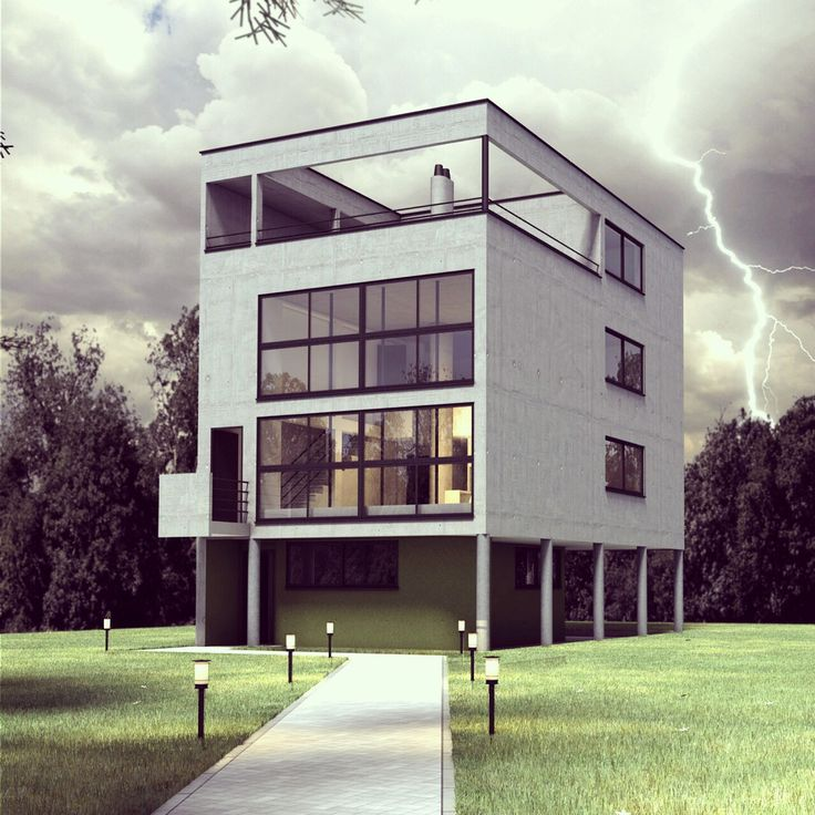 Le CorbusierI Maison CitrohanI 1922 I House is a idea of living machine (> modernism)