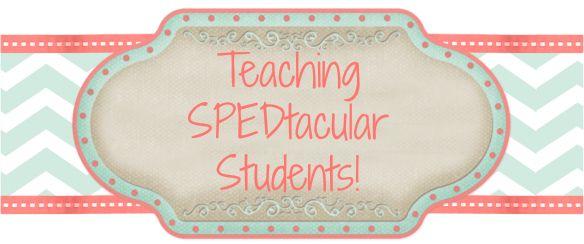 Teaching SPEDtacular Students! High school Special Education teacher blog.