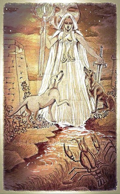 Hekate in the XVIII tarot by Feles85 on DeviantArt