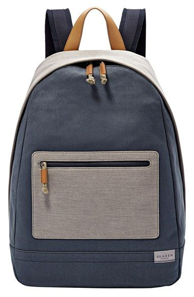 Skagen+'Kroyer'+Neutral+Colorblock+Waxed+Canvas+Twill+Backpack+available+at+#Nordstrom