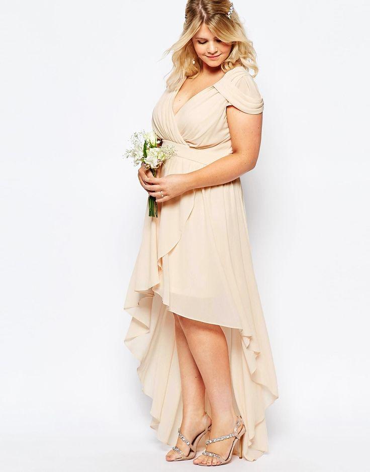 Image 4 ofTFNC Plus WEDDING High Low Chiffon Dress