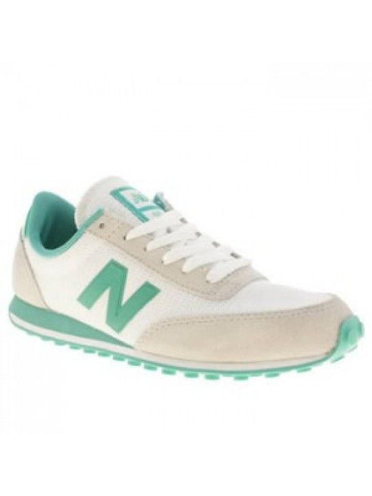 new balance white green