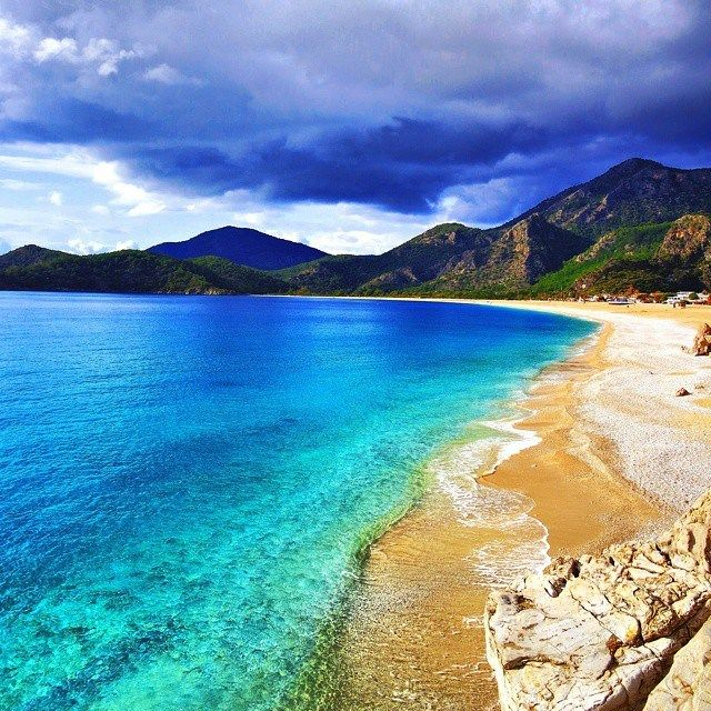Oludeniz beach, Turkey, is even more beautiful in winter than in summer :-)