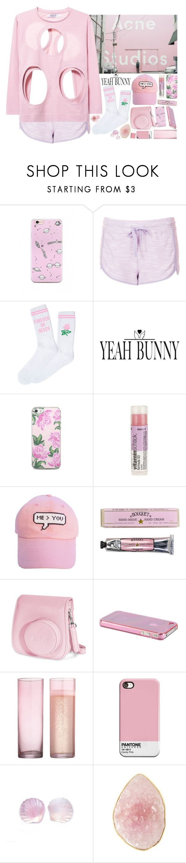 """""""Pink"""" by ritaflagy ❤ liked on Polyvore featuring Topshop, Yeah Bunny, me you, Soap & Paper Factory, Fujifilm, CB2 and PhunkeeTree"""