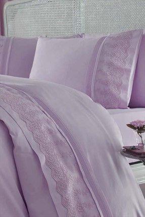 Evlen Home & Alanur Home Collection - Çift Kişilik Nevresim Takımı Bahar Lila GLNCKBAHARLI %36 indirimle 349,99TL ile Trendyol da