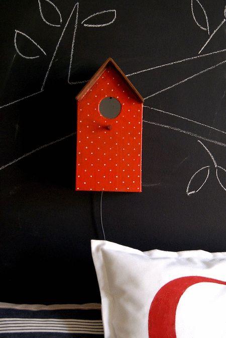 Lámpara casita / Birdhouse lamp by La Factoría Plástica