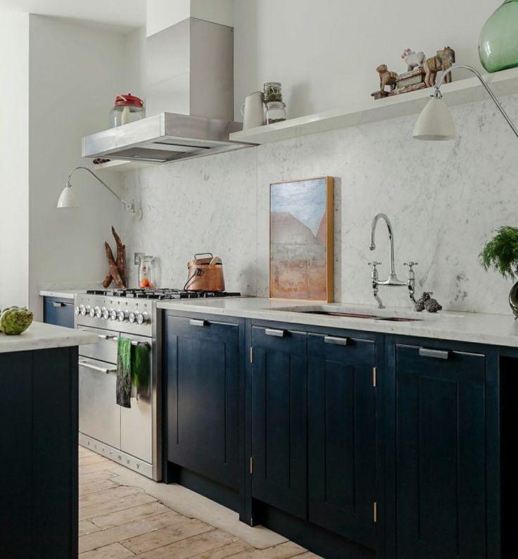 Skye Gyngell's kitchen - love the Bestlite - wall lights