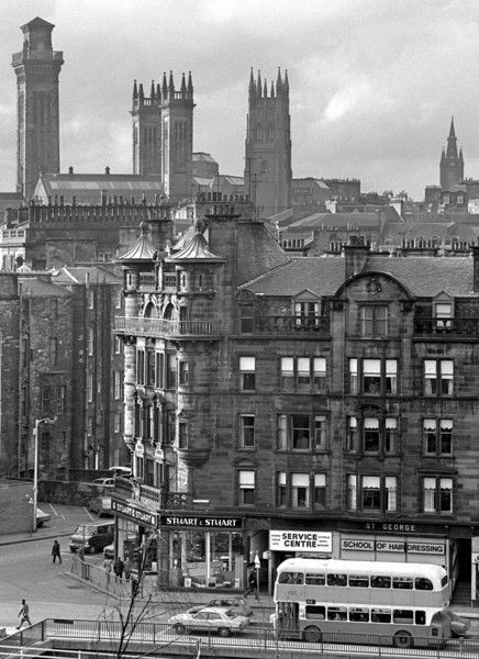 St George's Buildings, Charing Cross, Glasgow, 1970s Bought my first furniture in Stuart and Stuart.... a very smart furniture shop.....