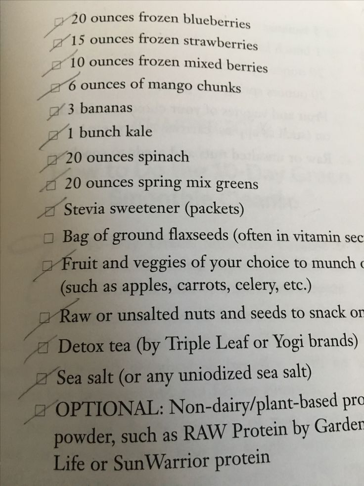 Food for the First 5 Days - continued (10-Day Green Smoothie Cleanse)