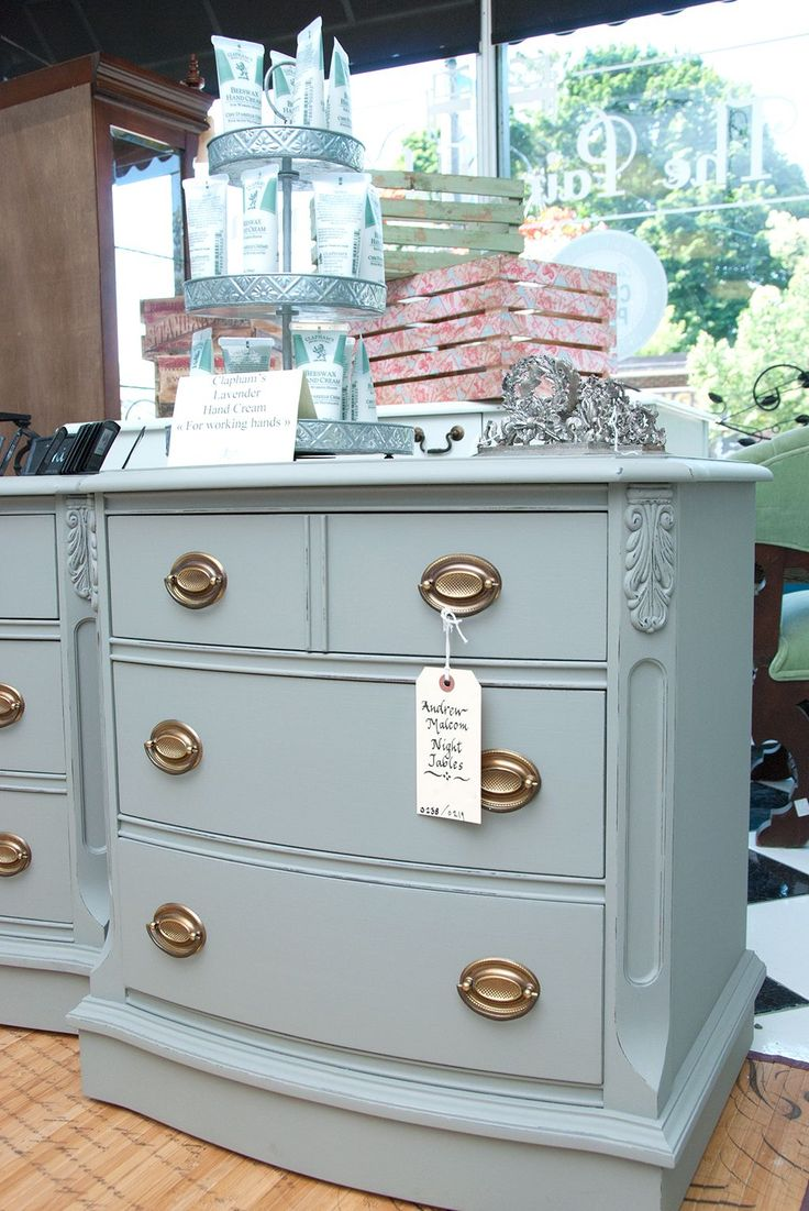 Salvaged Inspirations |Malcom Annie Sloan Chalk Painted End Tables at The Painted Bench.