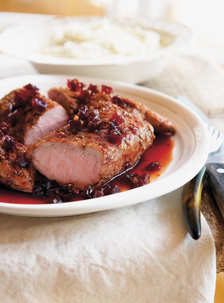 Recette de Ricardo de filets de porc caramélisés à l'érable et aux betteraves