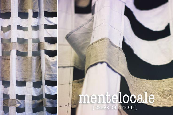 Tenda in lino bianca/ecrù. Linen Curtain white / ecru