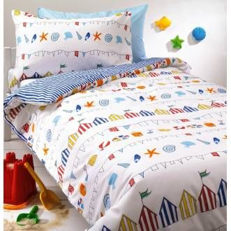 Nautical Beach Hut Kids Duvet Set