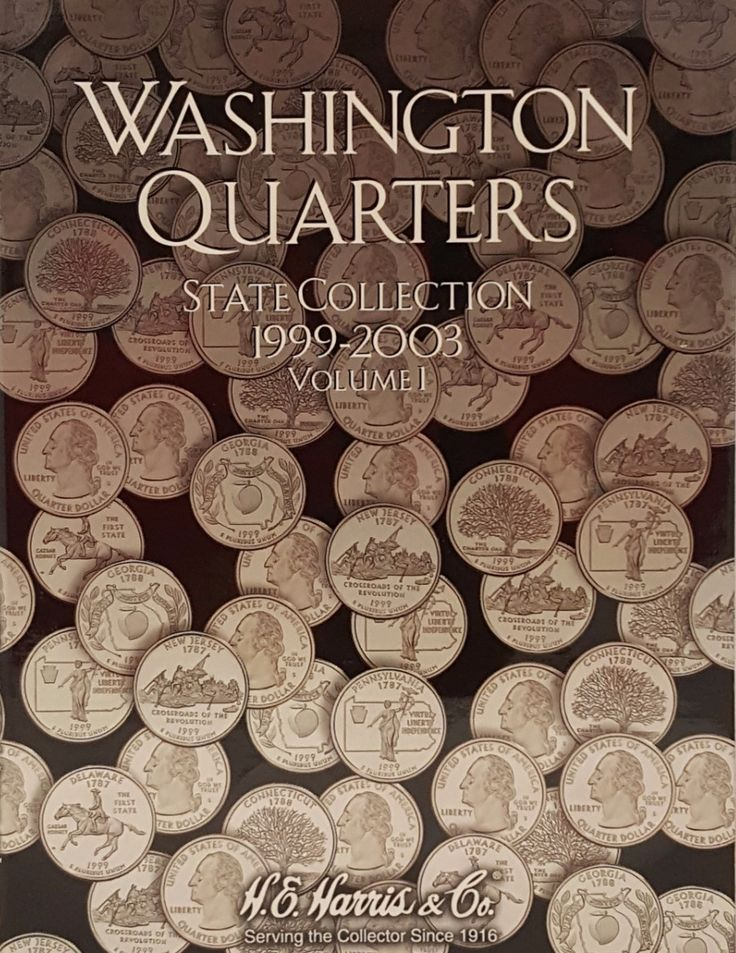 Washington Quarters State Collection 1999-2003 Vol I Coin Collecting Album