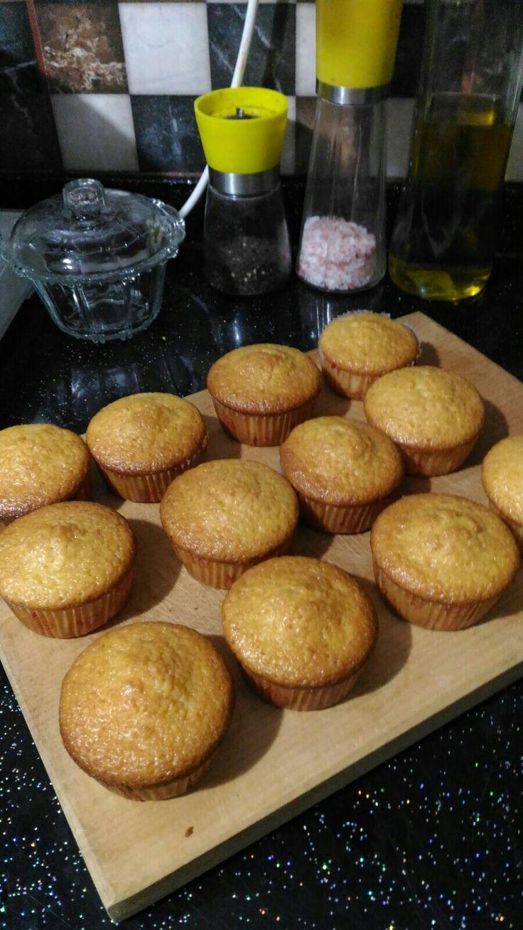 Limonlu küçük cupcake ler