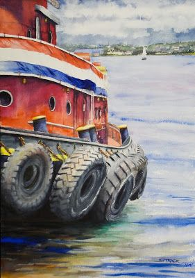 A Tug at my Heart, 20x14 #watercolor #painting $895.