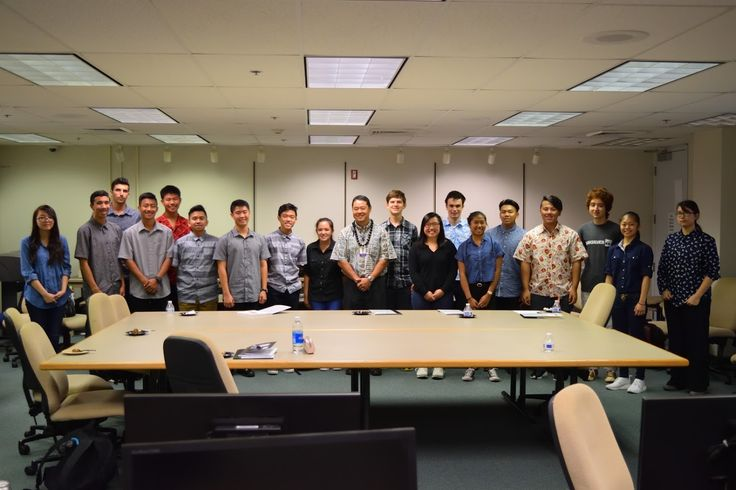 High school juniors getting an introduction to engineering from Hawaiian Electric employees.