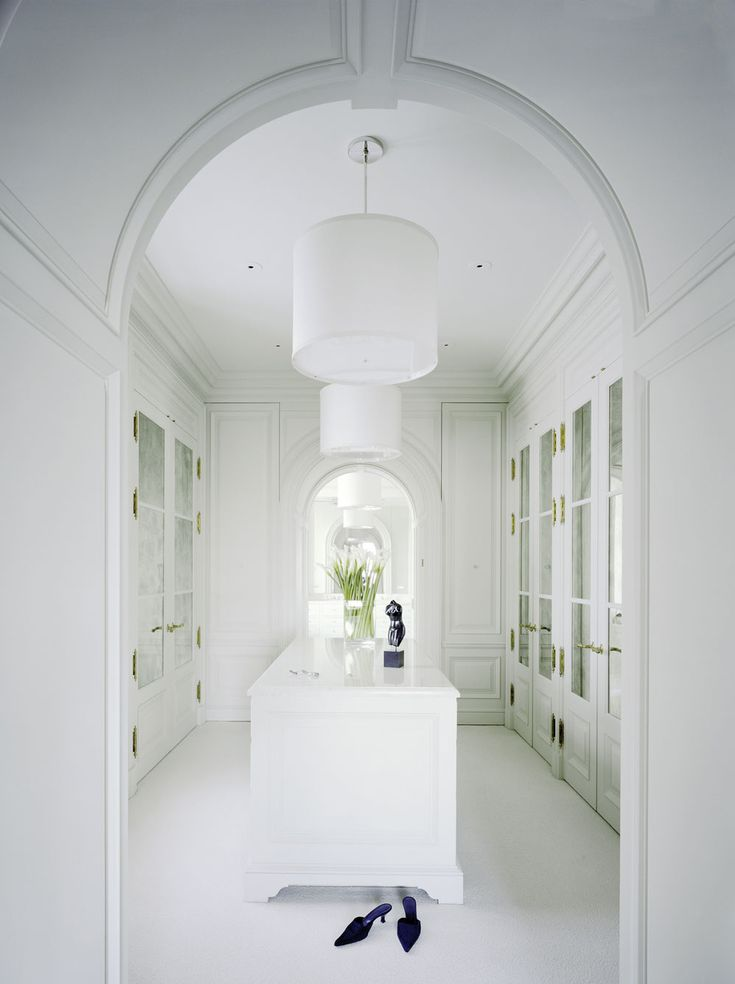Airy and spacious dressing room