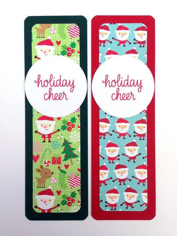 Christmas Bookmarks - Handmade Holiday Bookmark - Unique Christmas
