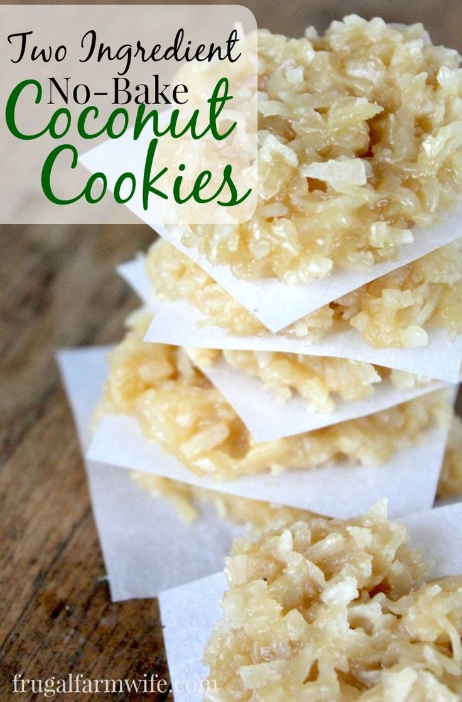 no-bake coconut cookies