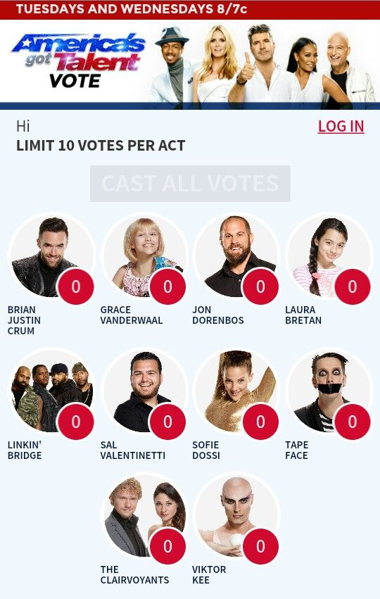 GO VOTE FOR GRACE AND SAL!!! AMAZING SINGERS. voting ends on Sept. 14 @ 7am. You can vote up to 10 times per contestant here: http://www.nbc.com/americas-got-talent/exclusives/agt-vote#main