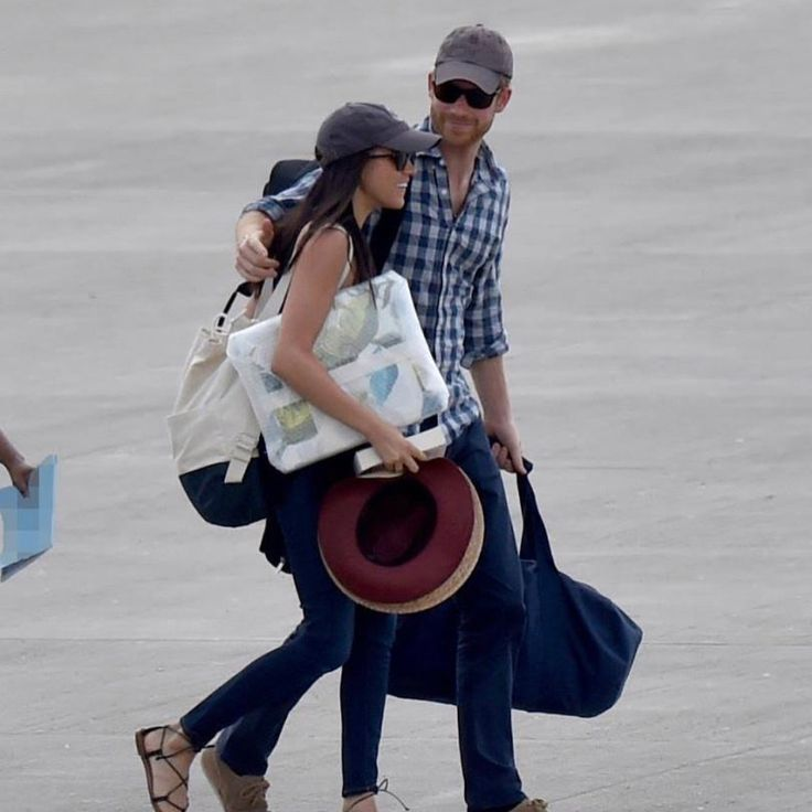 Prince Harry and Meghan Markle arrive in Africa to celebrate Meghan's 36th birthday today! Happy Birthday, Meghan. via ✨ @padgram ✨(
