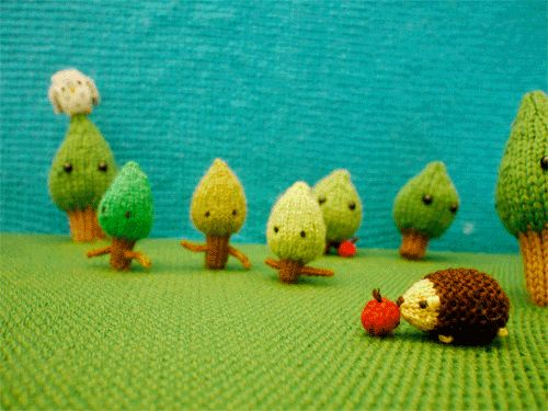 A forest full of wee critters! | These Spectacular Knitted Creatures Come From Your Wildest Imagination.