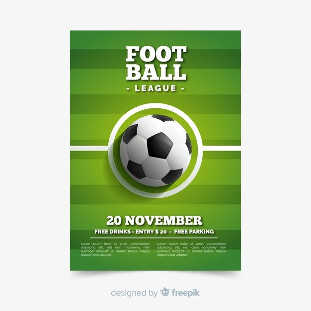 Download Download Sport Poster Template With Football Ball For Free Sport Poster Football Ball Poster Template