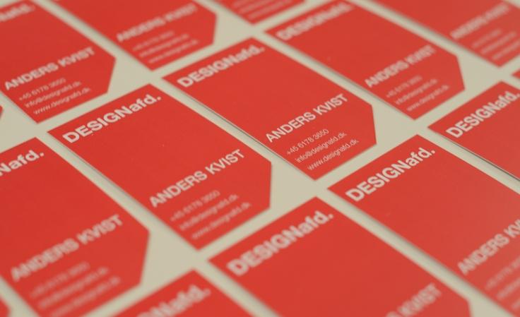 Business cards for DESIGNafd.