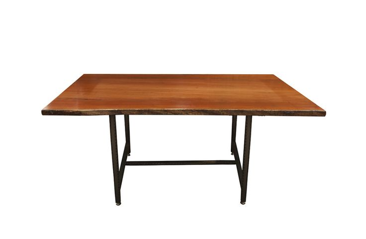 pinterest categories list wood slab furniture | Eucalyptus Robusta Table With Metal Base