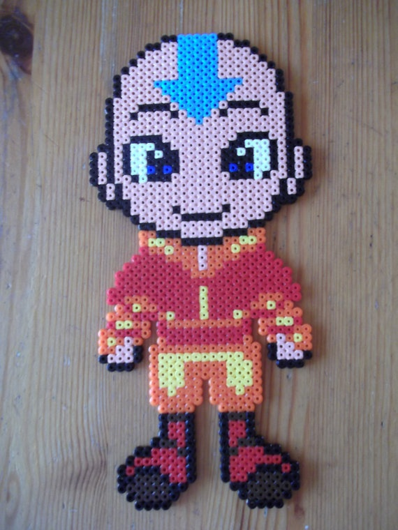 Avatar The Last Airbender Aang hama wall deco by beadstoterabithia