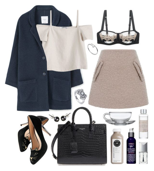 """Gioia"" by sophiehackett ❤ liked on Polyvore featuring N°21, MANGO, Shaina Mote, Charlotte Olympia, Fleur of England, Yves Saint Laurent, Kiehl's, Shabby Chic, Christian Dior and BERRICLE"