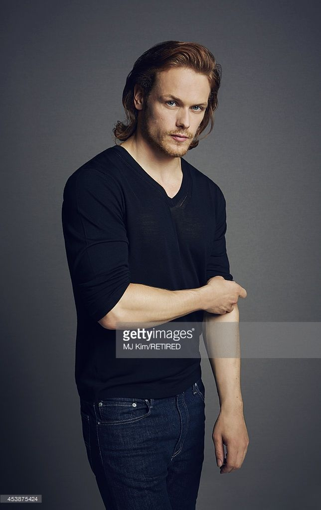 <a gi-track='captionPersonalityLinkClicked' href=/galleries/search?phrase=Sam+Heughan&family=editorial&specificpeople=6931997 ng-click='$event.stopPropagation()'>Sam Heughan</a> poses for a portrait at the Getty Images Portrait Studio powered by Samsung Galaxy at Comic-Con International 2014 on July 24, 2014 in San Diego, California.