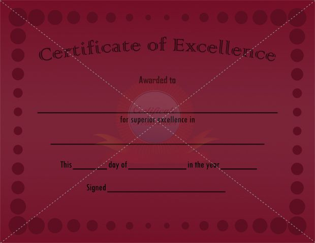 46 best certificate of excellence templates images on pinterest a certificate of excellence can be used in multiple settings in order to award a person or establishment with a job well done an employee may receive this yadclub Choice Image
