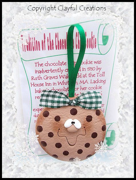 Becky's Polymer Clay  Chocolate Chip Cookie por clayfulcreations