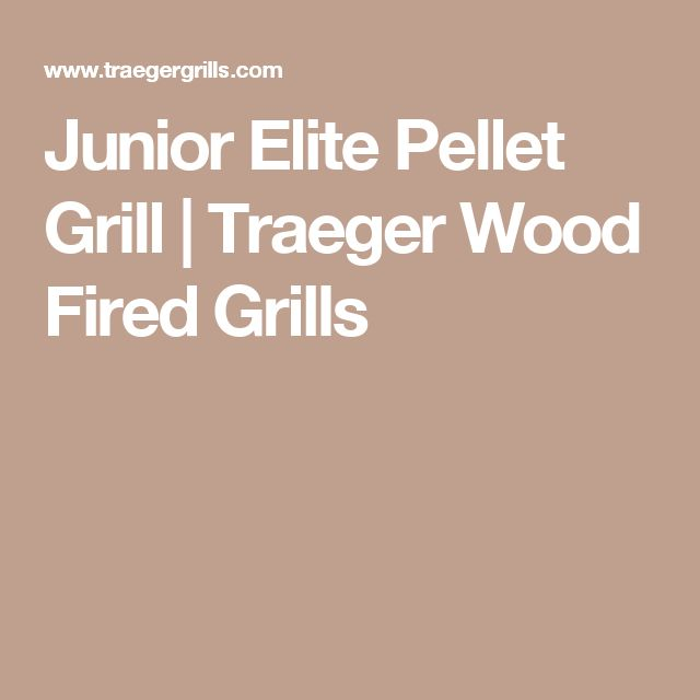 Junior Elite Pellet Grill | Traeger Wood Fired Grills