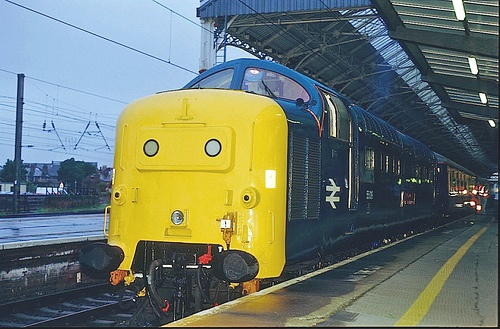 English Electric ~ Deltic Diesel Train ~ No. 55019 ~ Royal Highland Fusillier ~ Deltic Preservation Society