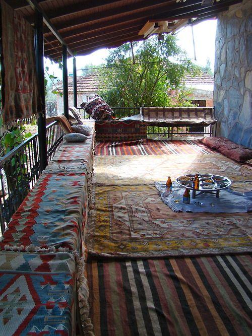 Lunch at turkish carpet coop, Bodrum Turkey