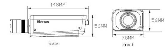 Dimension SC8110:  1.0 Megapixel 720P WDR Low-light Indoor Box IP Camera