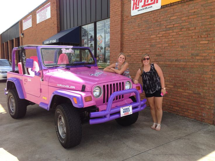 Barbie jeep!!   #barbie #jeep #pinkjeep