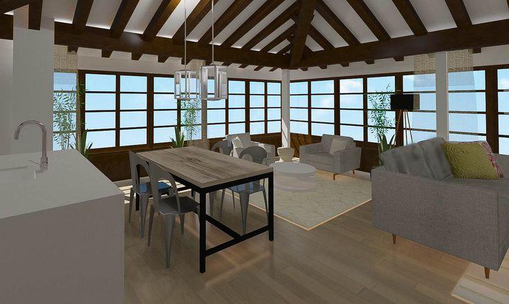 Salón y cocina en un sólo espacio