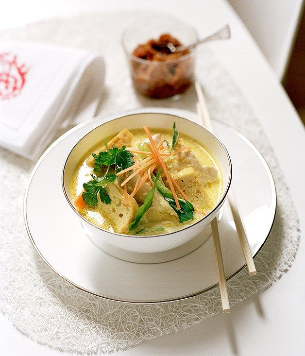 Spicy chicken laksa recipe | Gourmet Traveller recipe :: Gourmet Traveller