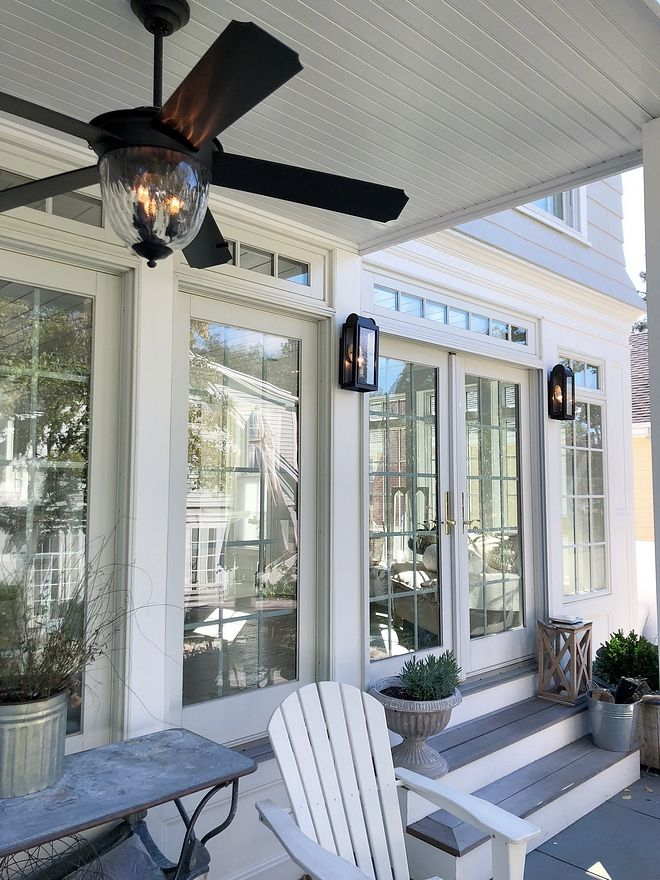 Back Porch Ceiling Fan And Lighting New England Homes House