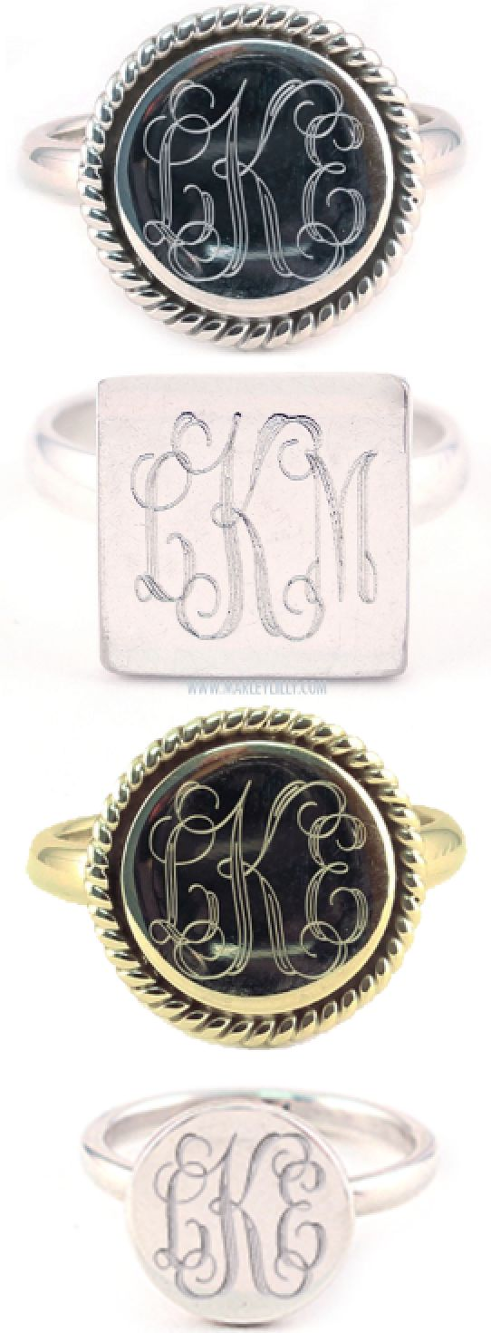 Monogrammed Marley Lilly Ring Collection