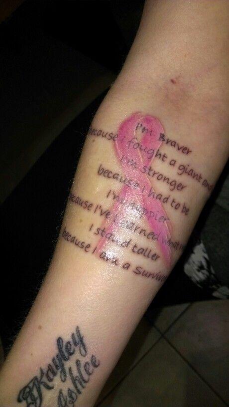My breast cancer survivor tattoo life pinterest for Breast cancer face tattoos walmart